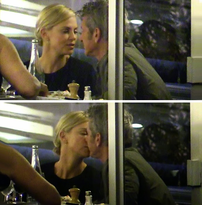 Charlize Theron And Sean Penn Photographed Kissing During Romantic Dinner