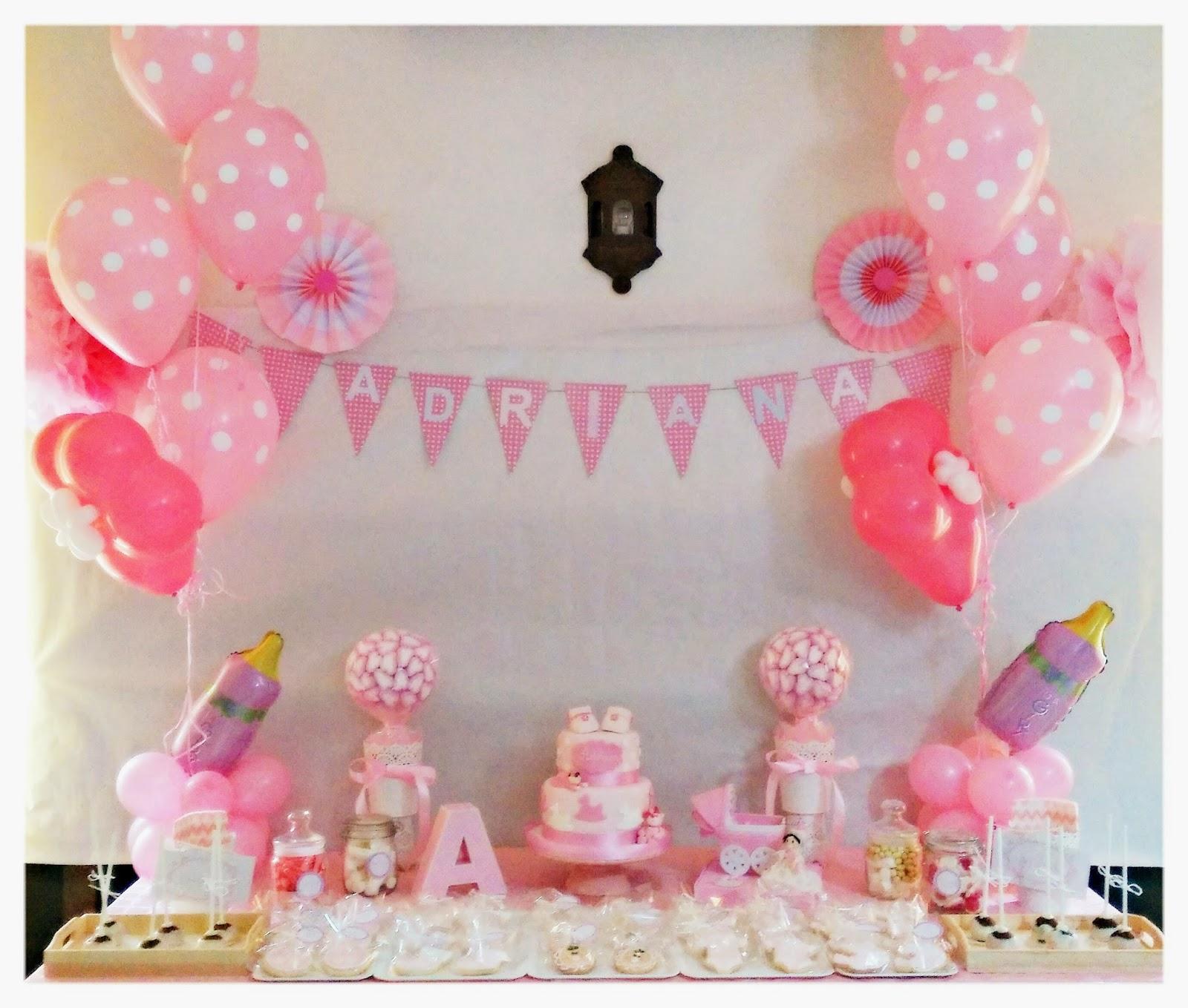 Las elaboraciones de rosa mesa dulce bautizo adriana - Hacer mesa dulce bautizo ...