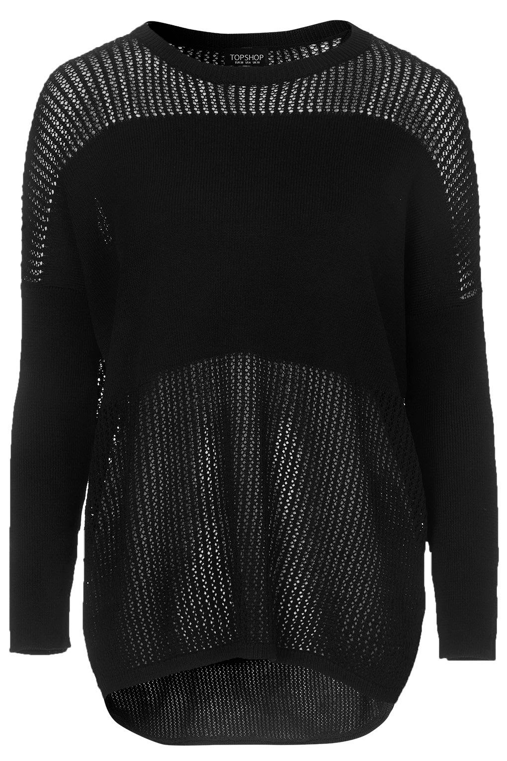 black mesh jumper