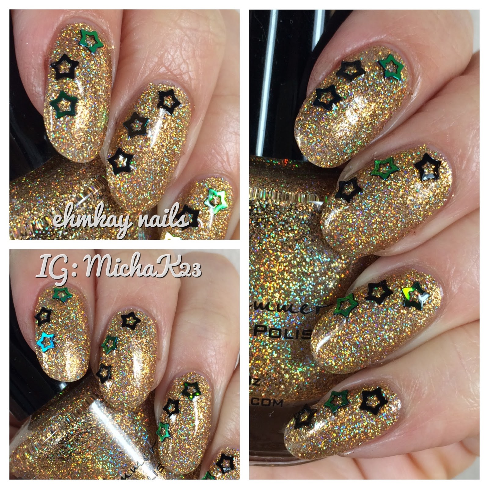ehmkay nails: New Year\'s Eve Nails: KBShimmer Sun & Games with Black ...