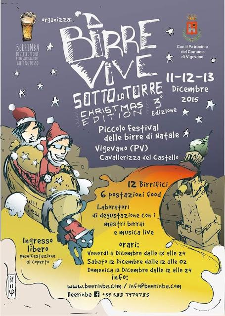 Birre Vive sotto la Torre Christmas Edition dall'11 al 13 Dicembre Vigevano (PV)