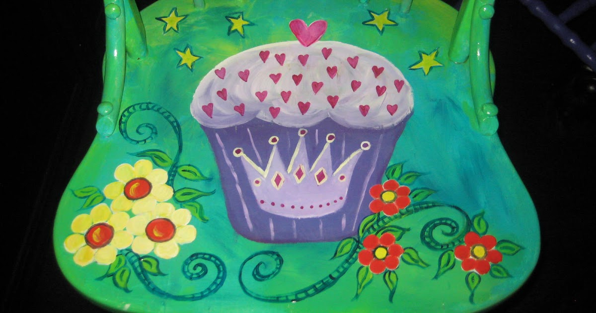 Happy Tiler Paint Party Friday 27 Cup Cake Chair