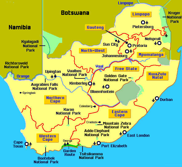 Maps of Africa Pictures and Information: South Africa Map ...
