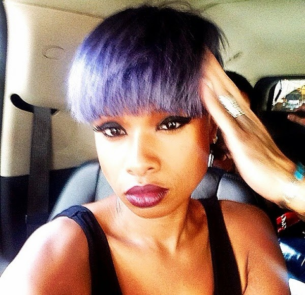 Raw Hollywood Raw Photos Jennifer Hudson Debuts Edgy New Purple