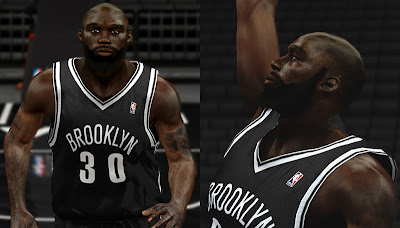 NBA 2K13 Reggie Evans Harden Beard Cyberface NBA2K Patch