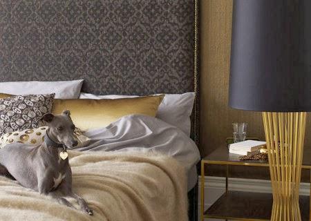 dormitorios dorados color oro moda 2014