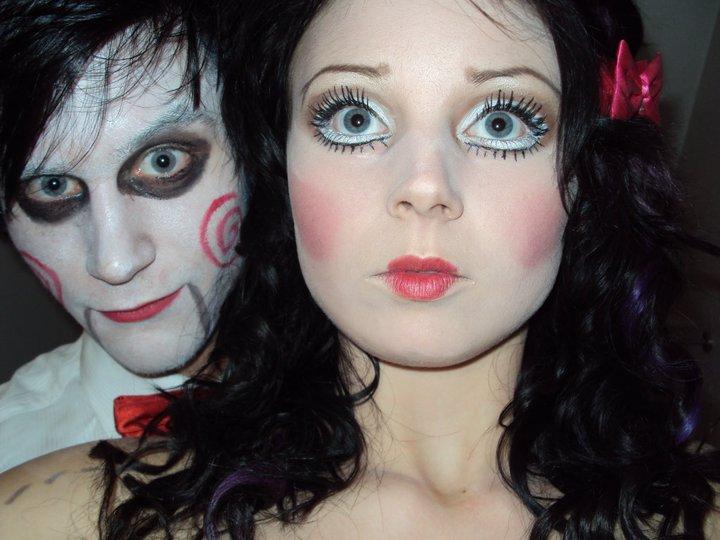 Dead Doll Jigsaw makeup costume udklædning