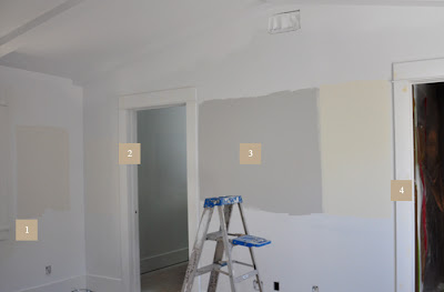 benjamin moor paint on my master bedroom wall. The colors are dune white, cloud white, shoreline, ivory