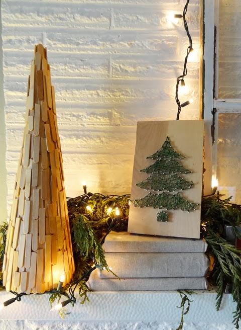 Diy Holiday Decor Christmas Tree String Art Revamp
