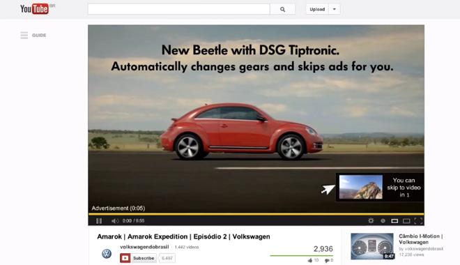 El anuncio de Volkswagen que se cierra automáticamente