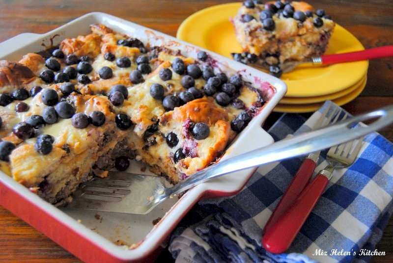 Blueberry Sausage Breakfast Bake at Miz Helen's Country Cottage