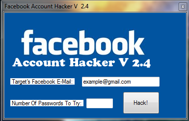 Facebook Account Hacker V2.4 Free Download