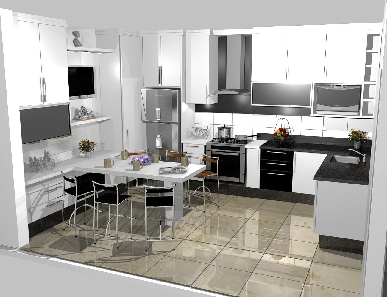#6A4784  PROJETOS (11) 3976 8616: cozinha planejadas pequenas decorada 1300x1000 px Projetos De Cozinhas Brastemp #439 imagens