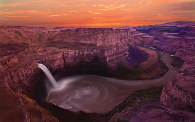 Palouse Falls Washington USA Full HD Nature Background Wallpaper for Laptop Widescreen