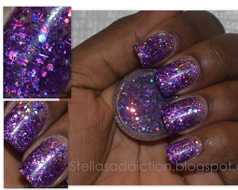 Notd Purple Glitter Nail Art