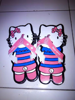 Contoh Sandal Lucu (sancu) Karakter Hello Kitty
