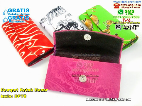 Dompet Kotak Besar Karton Kain Batik