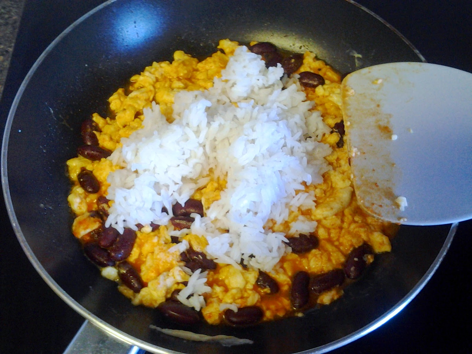 cheese sriracha egg rice recipe