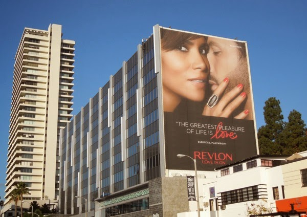 Halle Berry Revlon Love is on FW 2014 billboard
