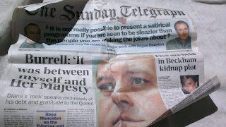Front page of The Telegraph on 3 November 2002