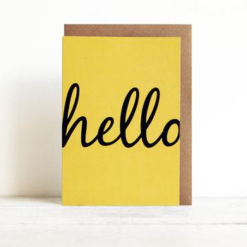 yellow hello card