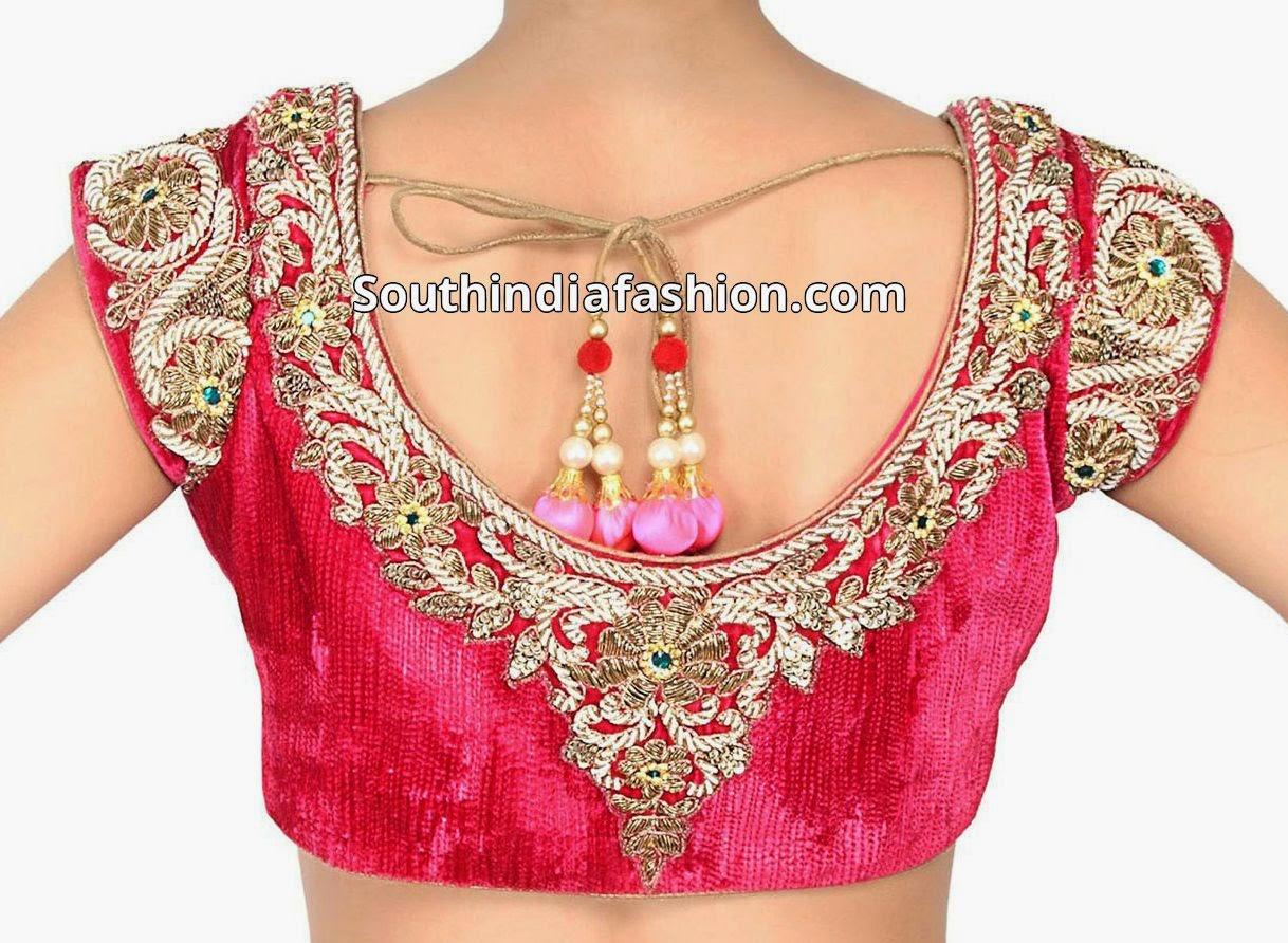 velvet blouse for sarees