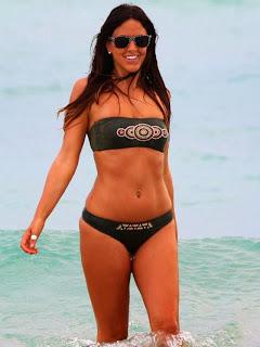 Claudia Romani Black Bikini Miami
