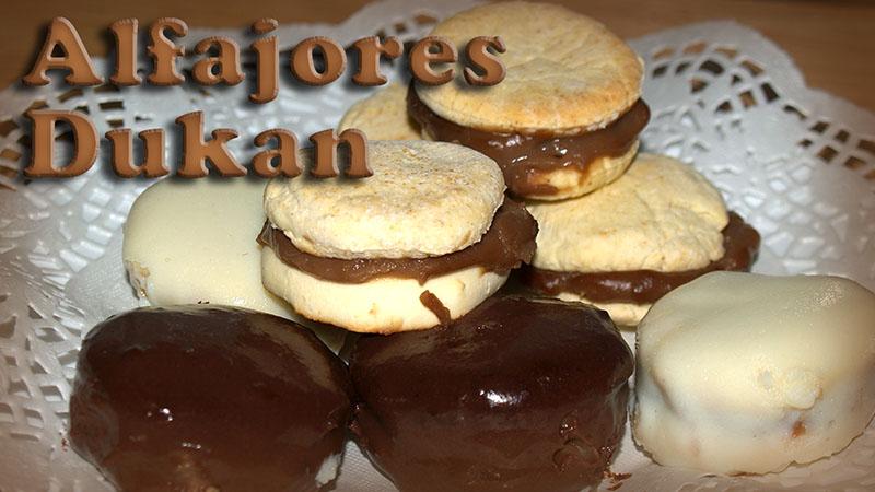 alfajores con dulce de leche dukan