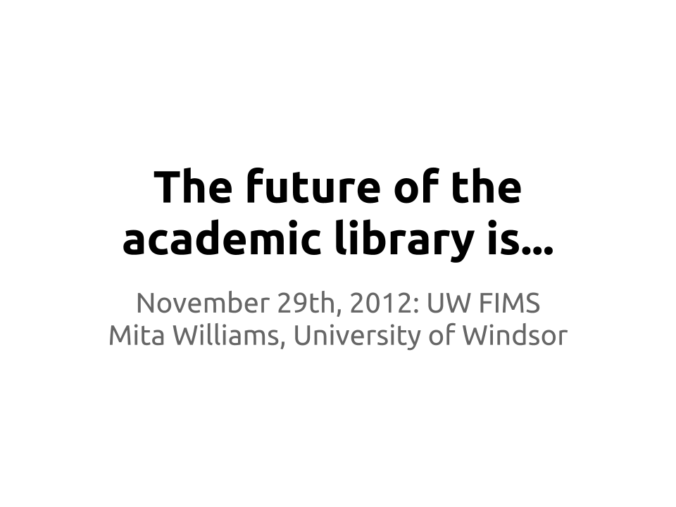 essays on how libraries are changing