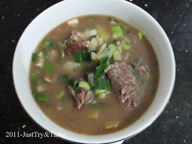 Sup Daging & Kentang dengan Aroma Bawang