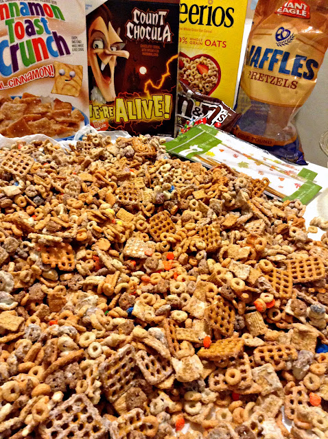 Monster Munch Cereal Party Mix Recipe Drying