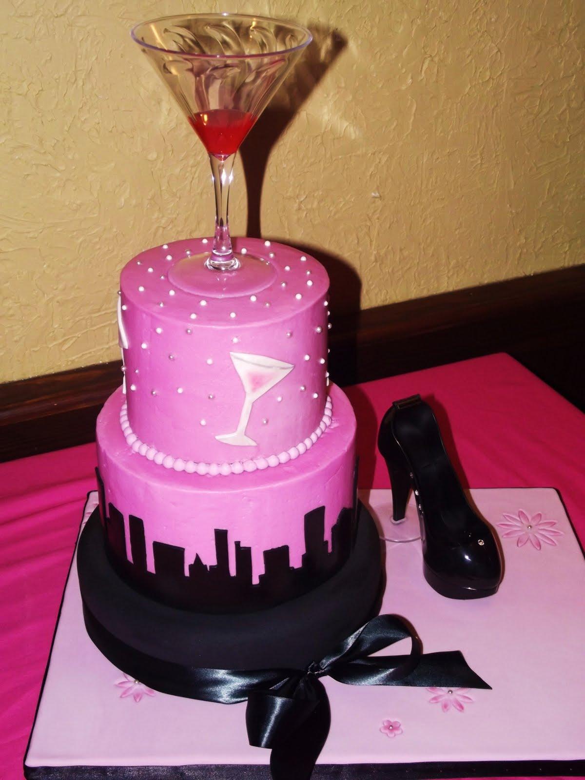 sex the city bridal shower cake