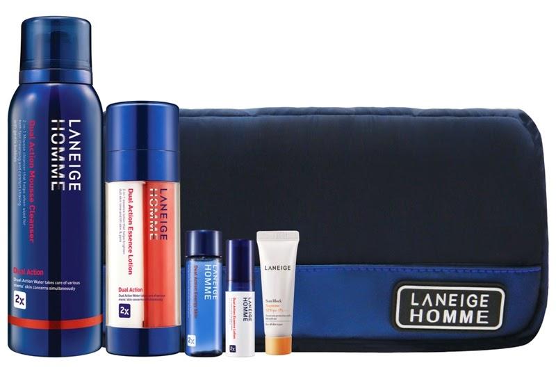 Laneige Dual Action Holiday Set for HIM, Gift Set, Laneige 2014 Holiday Collection, Laneige, Holiday Set, Christmas Set, Skincare, Makeup, Beauty