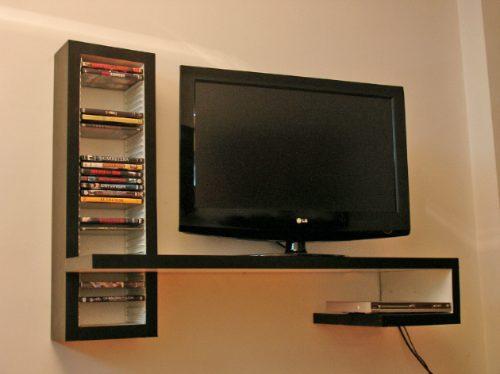 Sistemas modulares mesa flotante para lcd dvd play con Muebles flotantes para tv