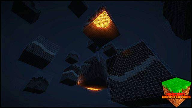 Cube World Generator Mod lava