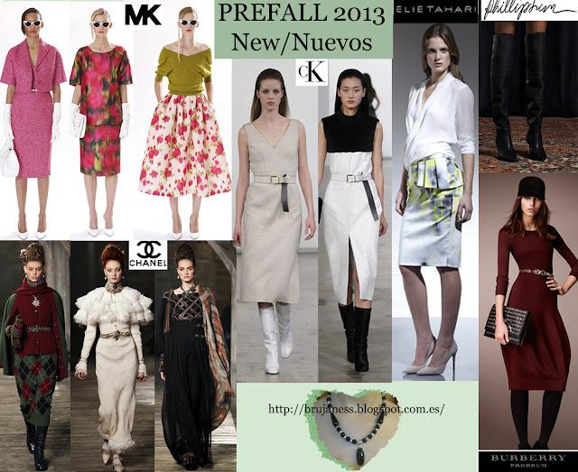 Chanel Burberry Michael Kors calvin klein elie tahari phillip leen prefall new trends nuevas tendencias prefall otoño fall 2013