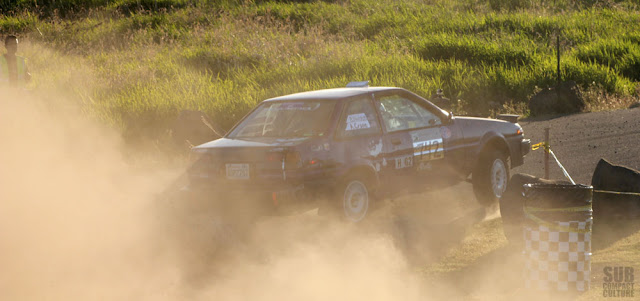 RWD Toyota Corolla Rally car at 2013 Oregon Trail Rally
