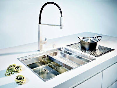 modern stainless kitchen sink design