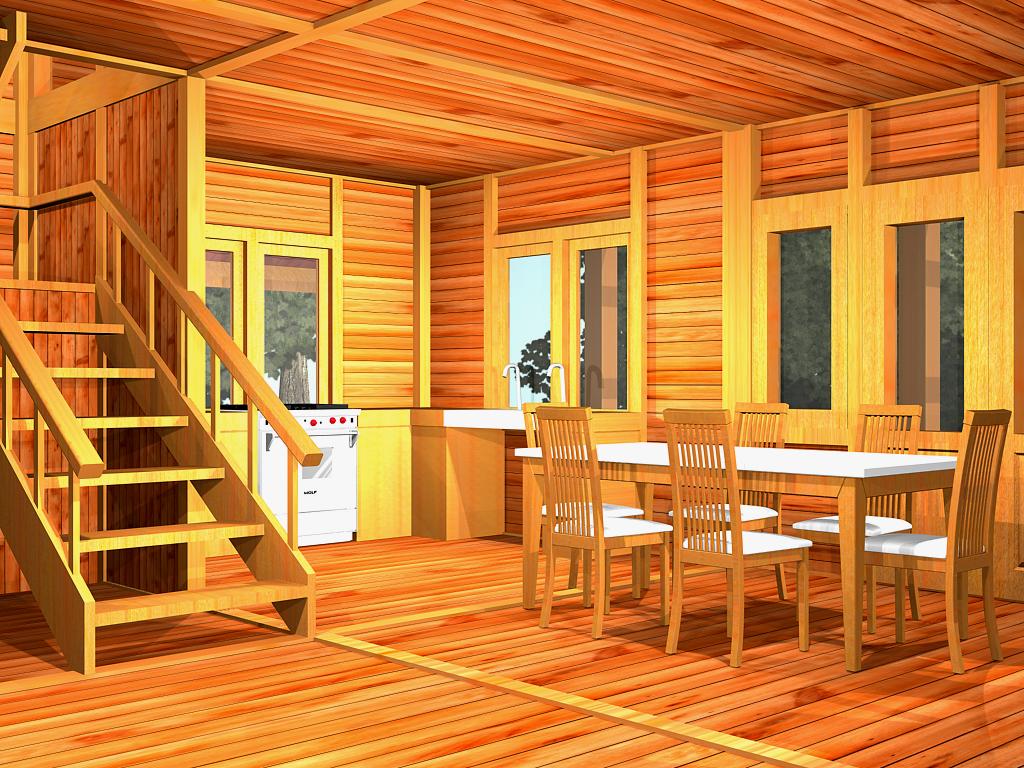 Mebel rumah kayu