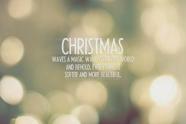 Christmas waves a magic wand over this world.
