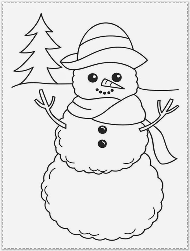 cute winter coloring pages