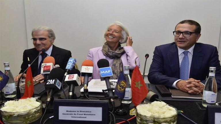 Christine Lagarde en Marruecos