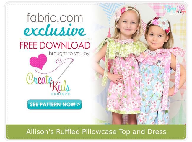 Create Kids Couture May's Free Pattern For Fabric Interesting Free Pillowcase Dress Pattern