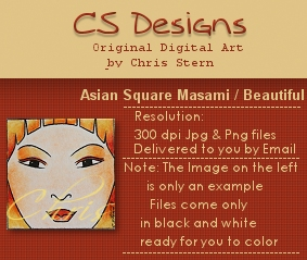 Beautiful Asian Digital Stamp Masami