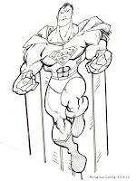 Koleksi Gambar Superman Untuk Diwarnai