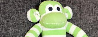 Małpka ze skarpetki