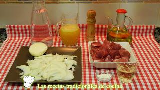 Receta de ternera en salsa de cebolla