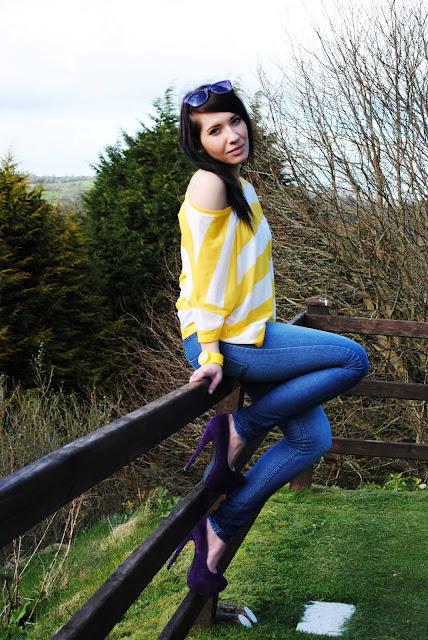 Yellow stripes and purple zebra