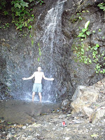A refreshing waterfall to cool off in