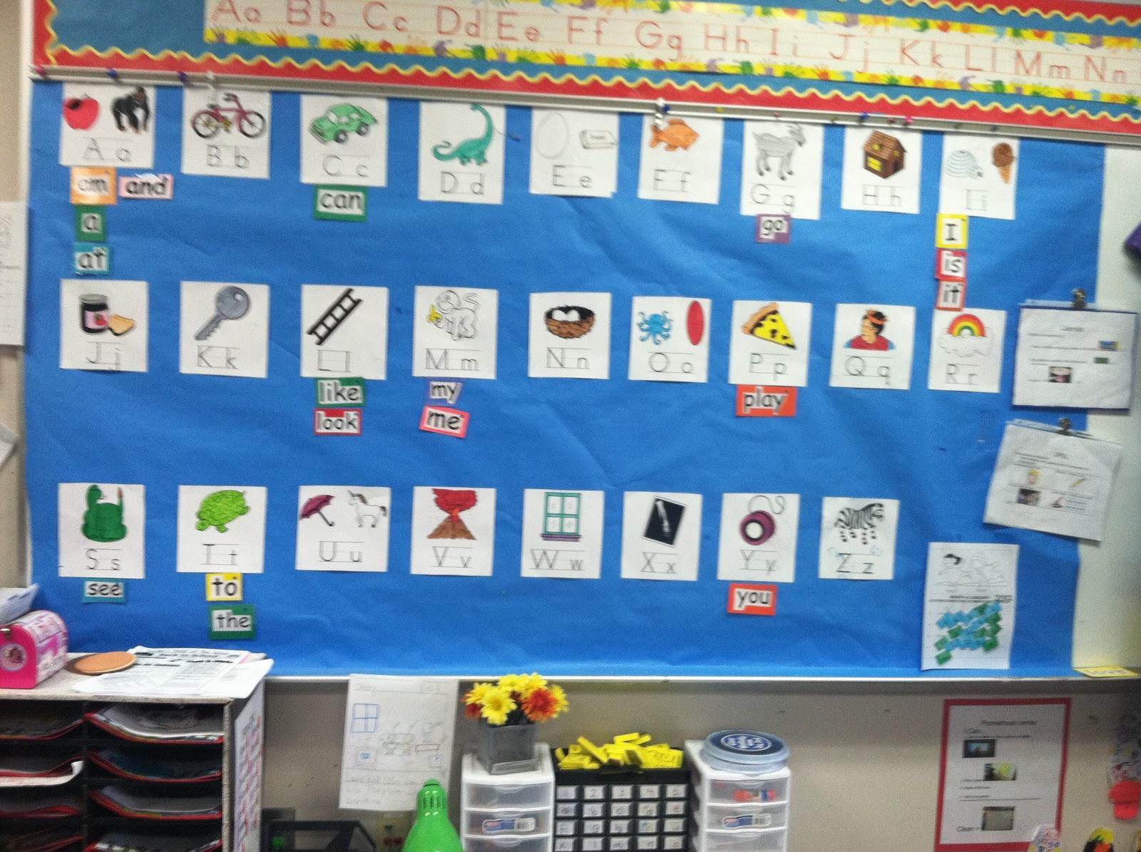 Classroom Word Wall Ideas ~ Kindergarten lifestyle word wall mini freebie